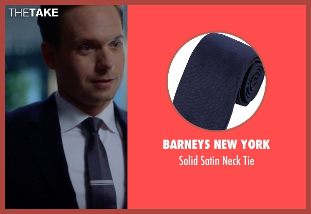 Barneys New York blue tie from Suits seen with Mike Ross (Patrick J. Adams)
