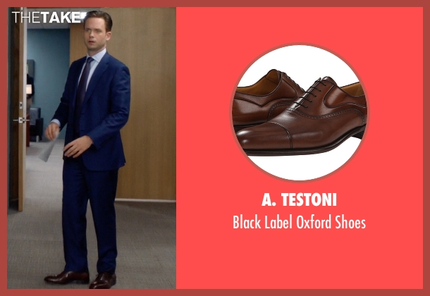 A. Testoni brown shoes from Suits seen with Mike Ross (Patrick J. Adams)