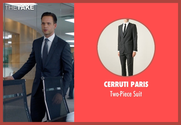 Cerruti Paris gray suit from Suits seen with Mike Ross (Patrick J. Adams)