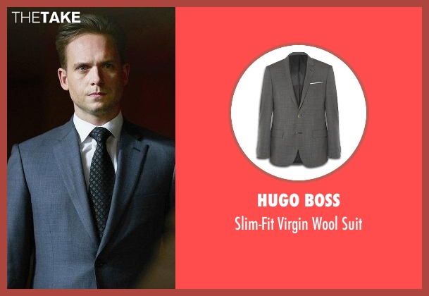 Hugo Boss gray suit from Suits seen with Mike Ross (Patrick J. Adams)