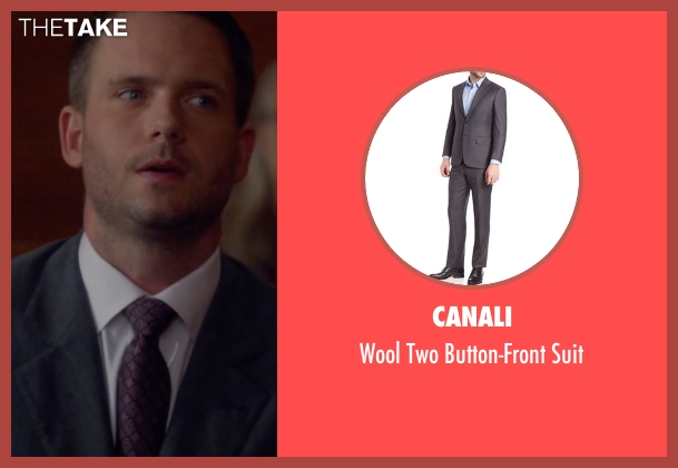 Canali gray suit from Suits seen with Mike Ross (Patrick J. Adams)