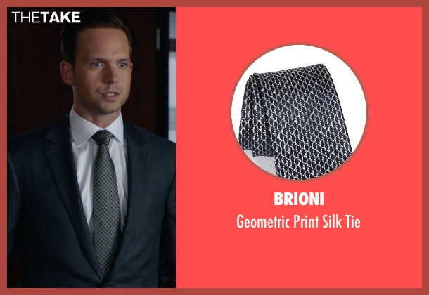 Brioni gray tie from Suits seen with Mike Ross (Patrick J. Adams)