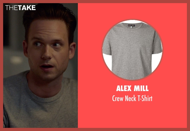Alex Mill gray t-shirt from Suits seen with Mike Ross (Patrick J. Adams)