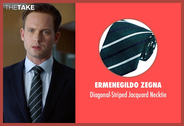 Ermenegildo Zegna green necktie from Suits seen with Mike Ross (Patrick J. Adams)