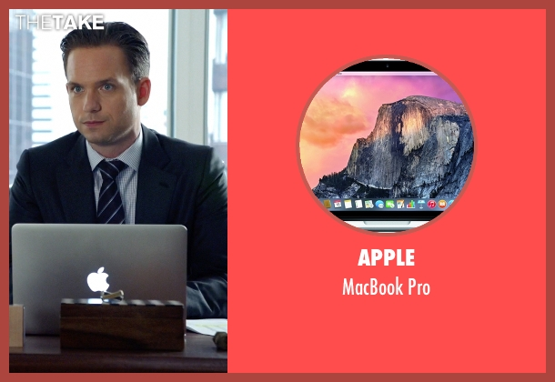 Apple pro from Suits seen with Mike Ross (Patrick J. Adams)