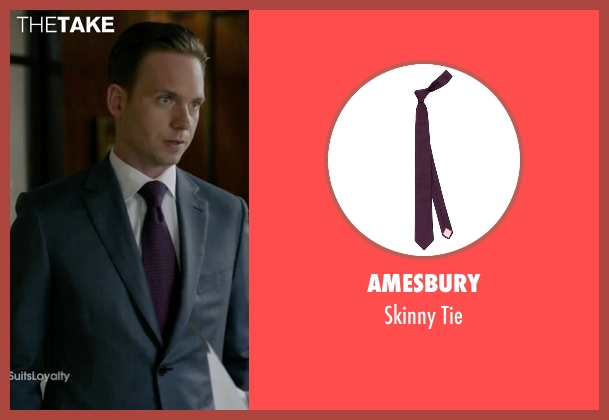 Amesbury red tie from Suits seen with Mike Ross (Patrick J. Adams)