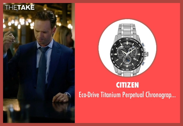 Citizen silver watch from Suits seen with Mike Ross (Patrick J. Adams)