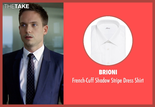 Brioni	 white shirt from Suits seen with Mike Ross (Patrick J. Adams)