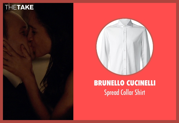 Brunello Cucinelli white shirt from Suits seen with Mike Ross (Patrick J. Adams)