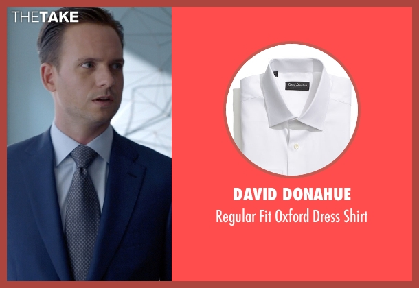David Donahue white shirt from Suits seen with Mike Ross (Patrick J. Adams)