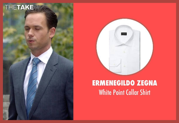 Ermenegildo Zegna white shirt from Suits seen with Mike Ross (Patrick J. Adams)