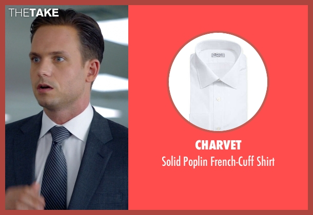 Charvet	 white shirt from Suits seen with Mike Ross (Patrick J. Adams)