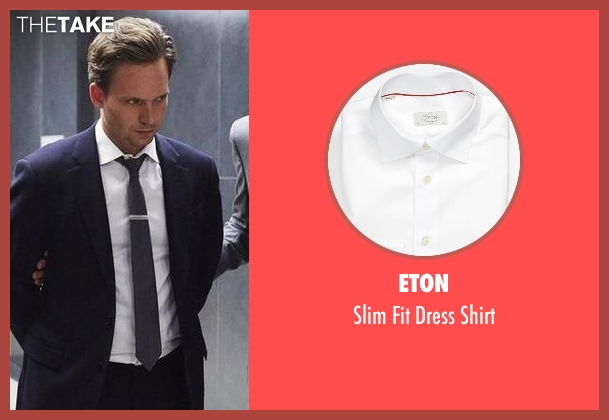 Eton white shirt from Suits seen with Mike Ross (Patrick J. Adams)