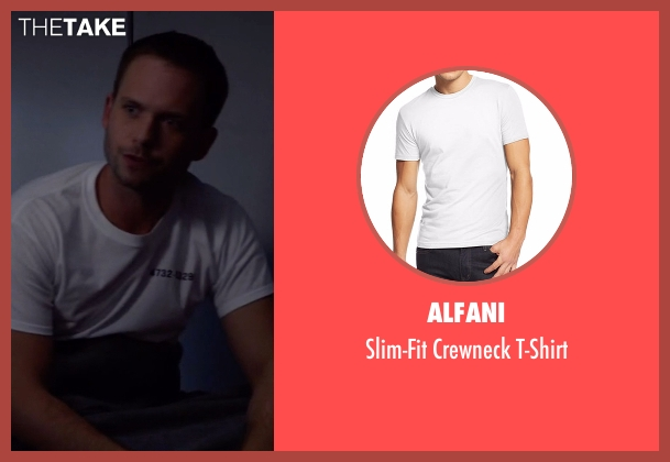 Alfani white t-shirt from Suits seen with Mike Ross (Patrick J. Adams)