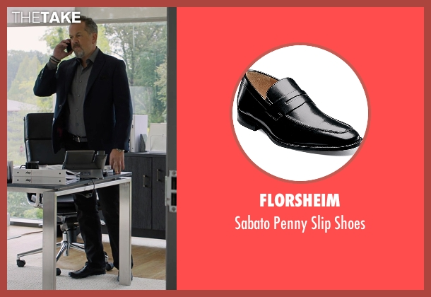 Florsheim black shoes from Billions seen with Mike Wagner (David Costabile)