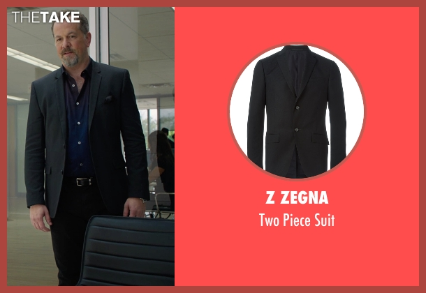 Z Zegna black suit from Billions seen with Mike Wagner (David Costabile)