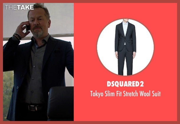 Dsquared2 blue suit from Billions seen with Mike Wagner (David Costabile)