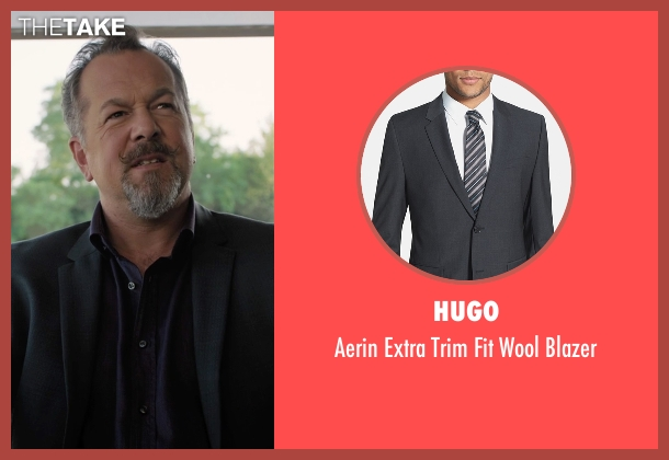 Hugo gray blazer from Billions seen with Mike Wagner (David Costabile)