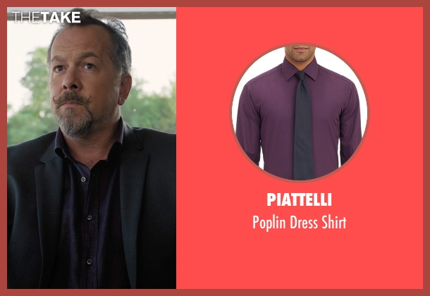 Piattelli purple shirt from Billions seen with Mike Wagner (David Costabile)