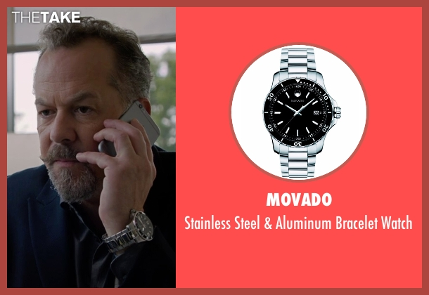 Movado silver watch from Billions seen with Mike Wagner (David Costabile)