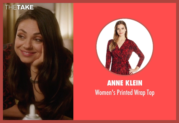 Anne Klein red top from Bad Moms seen with Mila Kunis (Amy Mitchell)