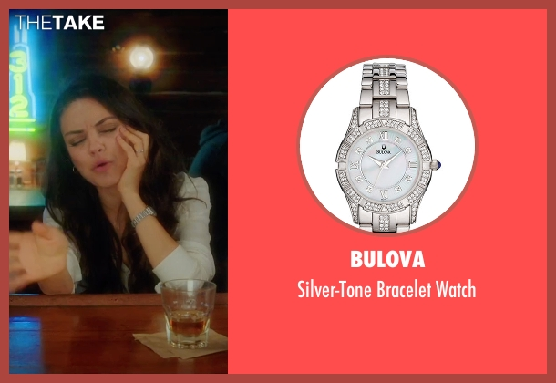 Bulova silver watch from Bad Moms seen with Mila Kunis (Amy Mitchell)