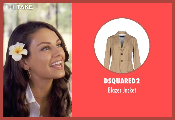 Dsquared2 beige jacket from Forgetting Sarah Marshall seen with Mila Kunis (Rachel Jansen)