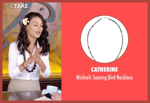 Catherine white necklace from Forgetting Sarah Marshall seen with Mila Kunis (Rachel Jansen)