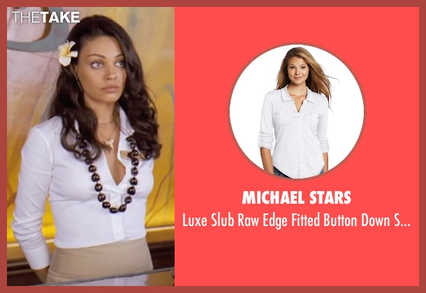 Michael Stars white shirt from Forgetting Sarah Marshall seen with Mila Kunis (Rachel Jansen)