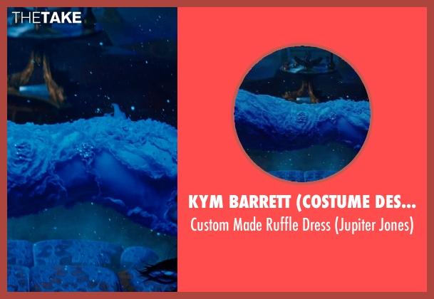 Kym Barrett (Costume Designer) pink dress from Jupiter Ascending seen with Mila Kunis (Jupiter Jones)