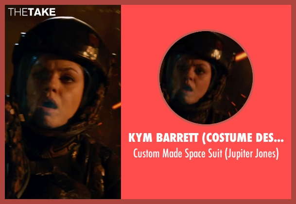 Kym Barrett (Costume Designer) suit from Jupiter Ascending seen with Mila Kunis (Jupiter Jones)