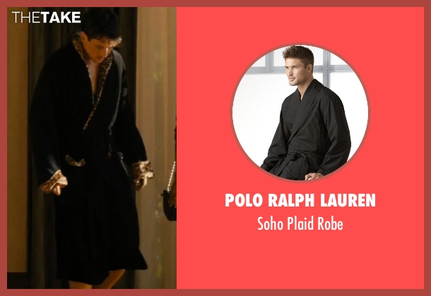 Polo Ralph Lauren black robe from Bleed for This seen with Miles Teller (Vinny Pazienza)