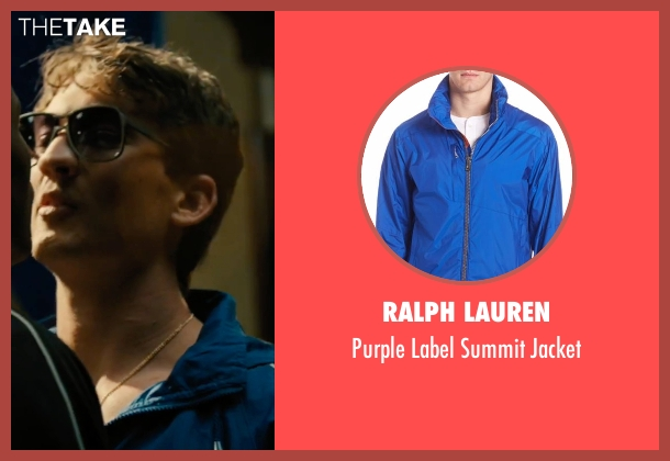 Ralph Lauren blue jacket from Bleed for This seen with Miles Teller (Vinny Pazienza)