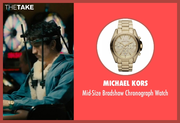 Michael Kors gold watch from Bleed for This seen with Miles Teller (Vinny Pazienza)