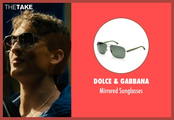 Dolce & Gabbana green sunglasses from Bleed for This seen with Miles Teller (Vinny Pazienza)