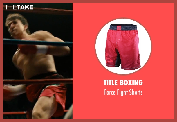 Title Boxing red shorts from Bleed for This seen with Miles Teller (Vinny Pazienza)