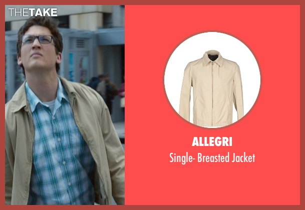 Allegri beige jacket from Fantastic Four seen with Miles Teller (Reed Richards / Mr. Fantastic)