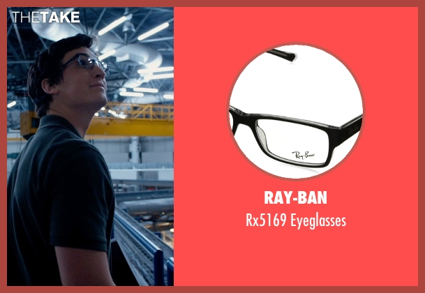 Ray-Ban black eyeglasses from Fantastic Four seen with Miles Teller (Reed Richards / Mr. Fantastic)