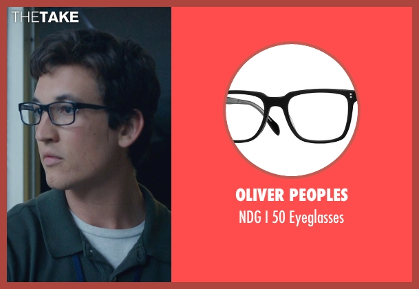 Oliver Peoples black eyeglasses from Fantastic Four seen with Miles Teller (Reed Richards / Mr. Fantastic)