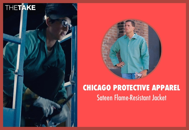 Chicago Protective Apparel blue jacket from Fantastic Four seen with Miles Teller (Reed Richards / Mr. Fantastic)
