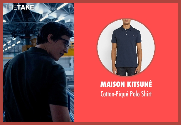 Maison Kitsuné blue shirt from Fantastic Four seen with Miles Teller (Reed Richards / Mr. Fantastic)