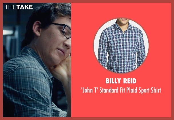 Billy Reid blue shirt from Fantastic Four seen with Miles Teller (Reed Richards / Mr. Fantastic)