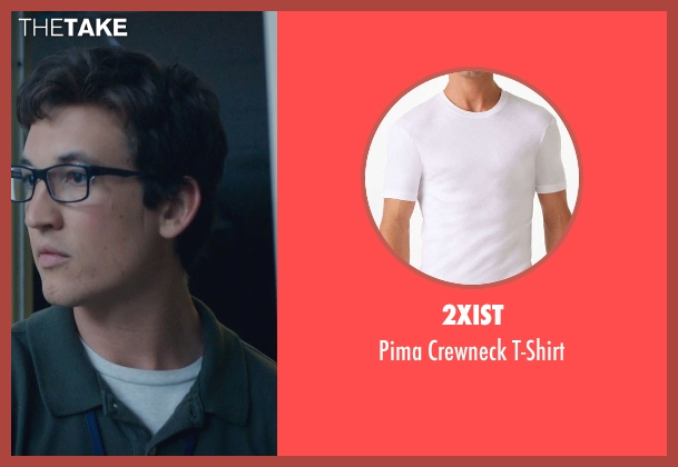 2xist white t-shirt from Fantastic Four seen with Miles Teller (Reed Richards / Mr. Fantastic)