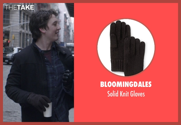 Bloomingdales black gloves from That Awkward Moment seen with Miles Teller (Daniel)