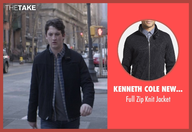 Kenneth Cole New York black jacket from That Awkward Moment seen with Miles Teller (Daniel)