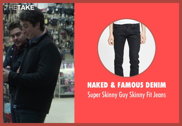 Naked & Famous Denim black jeans from That Awkward Moment seen with Miles Teller (Daniel)