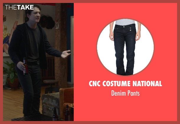 CNC Costume National black pants from That Awkward Moment seen with Miles Teller (Daniel)
