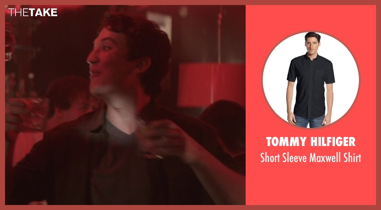 Tommy Hilfiger black shirt from That Awkward Moment seen with Miles Teller (Daniel)