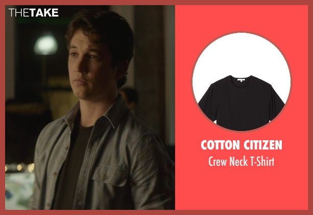 Cotton Citizen black t-shirt from That Awkward Moment seen with Miles Teller (Daniel)