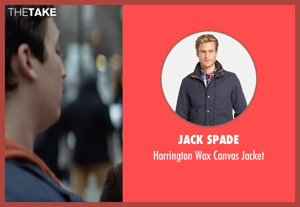 Jack Spade blue jacket from That Awkward Moment seen with Miles Teller (Daniel)